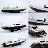 Magusta 108 White Wooden Model Speed Boat